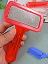 Trimnings Plast Kammar Husdjur Skötselprodukter Röd Blå