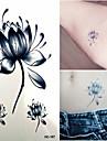 1 pcs Tatueringsklistermärken tillfälliga tatueringar Blomserier Vattentät / Ogiftig Body art / Ländrygg
