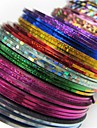 30 pcs Nail Foil Striping Tape nagel konst manikyr Pedikyr Abstrakt / Mode Dagligen / Foliebandspapp