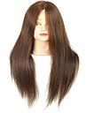 18 tum blandade frisersalong kvinnlig skyltdocka huvud med smink färg brun