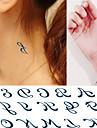 1 pcs Tatueringsklistermärken tillfälliga tatueringar Meddelande Serie Ny Design Body art Kropp / handled / ankel / Tattoo Sticker