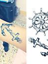 1 pcs Tatueringsklistermärken tillfälliga tatueringar Meddelande Serie Vattentät / Ogiftig Body art / Ländrygg