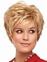 Syntetiska peruker Lockigt Lockigt Pixie-frisyr Peruk Blond Korta Blond Syntetiskt hår Dam Blond