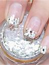 1 pcs Glitter Paljetter nagel konst manikyr Pedikyr Dagligen Abstrakt / Bröllop / Mode