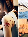 15 pcs Tatueringsklistermärken tillfälliga tatueringar Djurserier / Blomserier Ogiftig Body art / Mönster