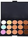 15 färger Kaki Concealer / Contour Fuktig / Matt / Skimmrig Concealer / Naturlig Ansikte Palett Smink Kosmetisk