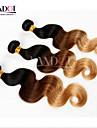 Mongoliskt hår Kroppsvågor Hårförlängning av äkta hår 3 delar 0.3