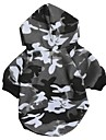 Katt Hund Huvtröjor Vinter Hundkläder Grå Kostym Cotton Kamouflage Ledigt / vardag Mode XS S M L