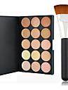15 färger Sminkborstar Ansikte Smink Kosmetisk Fuktig