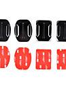 2x platt och 2x böjda fästen bas med 3M självhäftande kuddar för GoPro hero 4/3 + / 3/2/1 / sj4000 / sj5000 / sj6000