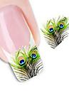 1 pcs 3D Nagelstickers Vattenöverföringsklistermärke nagel konst manikyr Pedikyr Vackert Abstrakt / Mode Dagligen / 3D Nail Stickers