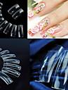500 pcs Genomskinlighet Plast Helnageltoppar Halvnageltoppar Till Fingernageö nagel konst manikyr Pedikyr Dagligen Abstrakt / Bröllop / Mode
