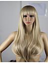 Syntetiska peruker Vågigt Minaj Stil Asymmetrisk frisyr Peruk Guld Blond Syntetiskt hår Dam Naturlig hårlinje Guld Blond Peruk Lång