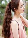 Hårförlängning med mikroring Hästsvans Syntetiskt hår Hårstycke HÅRFÖRLÄNGNING Vågigt