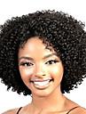 Syntetiska peruker Lockigt Lockigt Peruk Korta Svart Syntetiskt hår Dam Afro-amerikansk peruk Svart StrongBeauty