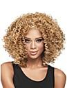 Syntetiska peruker Lockigt Lockigt Peruk Blond Mellan Ljusbrun Syntetiskt hår Dam Afro-amerikansk peruk limfria Blond StrongBeauty