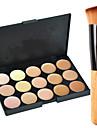 15 färger Concealer / Contour Sminkborstar 1 pcs Torr / Kombination / Oljig Ansikte Smink Kosmetisk
