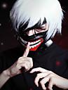 Tokyo Ghoul Ken Kaneki Cosplay-peruker Herr 12 tum Värmebeständigt Fiber Silver Animé