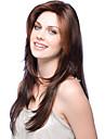 Mänskligt hår Peruk Lång Vågigt Frisyr i lager Med lugg Vågigt Sidodel Utan lock Brasilianskt hår Dam Blond Mörkbrun Medium Auburn 24 tum / 8A