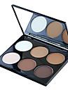 6 färger Puder Sminkspegel 1 pcs Torr / Matt / Skimmrig Vitning / Dækning / Långvarig Ansikte Smink Kosmetisk