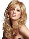 Mänskligt hår Peruk Vågigt Vågigt Utan lock Mörk Rödbrun Ljus Auburn Brons 24 tum