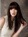 Mänskligt hår Peruk Lång Vågigt Med lugg Vågigt Utan lock Dam Rödblandad Svart Blond Mörkbrun 24 tum