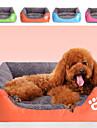 multi färg polyester söt lådform husdjur säng för hundar katter 58 * 45 * 14 cm / 23 * 18 * 6 tum