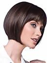 Syntetiska peruker Rak Rak Bob-frisyr Kort Bob Peruk Korta Brun Syntetiskt hår Dam Värmetåligt Ombre-hår Brun