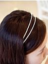 Sydkorea importerade hårnål strass pärlstav huvud hoop dekorationer tvåradiga kristall hårband