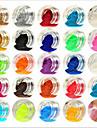 Akrylfiber Till finger tå Vackert / 24 färger nagel konst manikyr Pedikyr Abstrakt / Klassisk / Bröllop Dagligen