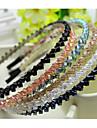 Sydkorea importerade hårnål strass pärlstav huvud hoop dekorationer tvåradiga kristall hårband lila