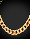 Women\'s Necklace Cuban Ladies Party Work Casual Rose Gold Platinum Plated Gold Plated Red Gold Silver Necklace Jewelry For Daily / Rose Gold Plated