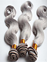 Brasilianskt hår Kroppsvågor Hårförlängning av äkta hår 3 delar 0.3