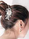 sydkorea hög kvalitet ornament i kammar hår spänne diamant pärla twist blomman fören