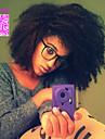 Äkta hår Helnät utan lim Hel-spets Peruk stil Brasilianskt hår Afro Kinky Curly Peruk 120% Hårtäthet med babyhår Naturlig hårlinje Afro-amerikansk peruk 100 % handbundet Dam Korta Mellan Lång Äkta
