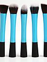 5 Borstsatser / Rougeborste / Concealerborste / Puderborste / Foundationborste / Konturborste Syntetiskt HårProfessionell / Resor /
