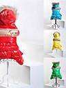 Katt Hund Kappor Huvtröjor Jumpsuits Vinter Hundkläder Gul Grön Röd Kostym Cotton Färgblock Håller värmen Mode XS S M L XL XXL