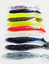 10 pcs Fiskbete Mjukt bete Sjunker Bass Forell Gädda Drag-fiske Plast