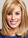 Mänskligt hår Peruk Vågigt Vågigt Utan lock Blond Blondin / Blekblondin Brons