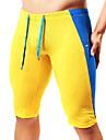 Herr Joggingshorts Nät Lappverk sporter Vinter Shorts Cykling Tights Leggings Löpning Fitness Gym träning Trail Andningsfunktion Mjukhet Färgblock Mode Mörkgrön Gul Blå Mörkblå / Elastisk