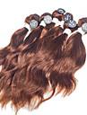 Brasilianskt hår Naturligt vågigt 8A Human Hår vävar Hårförlängning av äkta hår Människohår förlängningar