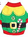 Katt / Hund Dräkter / Kostymer / Kappor / T-shirt Hundkläder Röd / Grön Cotton Kostym För husdjur Herr / Dam Cosplay / Halloween / Jul