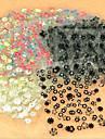 50 pcs 3D Nagelstickers nagel konst manikyr Pedikyr Abstrakt / Mode Dagligen / 3D Nail Stickers