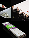 3st vita nagel konst strass pärlor plocka 3D-design målare blyertspenna dotting verktyg kit
