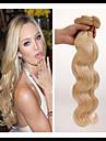 3 paket Mongoliskt hår Kroppsvågor Human Hår vävar Hårförlängning av äkta hår Människohår förlängningar