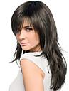 Mänskligt hår Peruk Vågigt Vågigt Utan lock 2/33 Dark Brown / Dark Auburn Beige Blondin / Blekblondin Mörkbrun