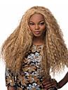 Syntetiska peruker Lockigt Lockigt Peruk Blond Lång Blond Syntetiskt hår Dam Blond