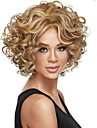 Syntetiska peruker Lockigt Lockigt Peruk Blond Korta Brun Blond Syntetiskt hår Dam Blond Brun