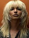 Syntetiska peruker Vågigt Vågigt Peruk Blond Mellan Blond Syntetiskt hår Blond