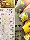 1 pcs 3D Nagelstickers Nagelsmycken Vattenöverföringsklistermärke nagel konst manikyr Pedikyr Punk / Mode Dagligen / pvc / Nail Smycken / 3D Nail Stickers